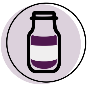 graphic icon of elderberry syrup